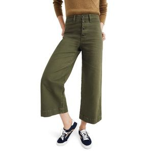 Madewell Pants & Jumpsuits - NWT Madewell Button-Front Wide-Leg Crop Pants